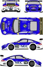 1/24 Decal Porsche 911 GT3 #74 24h of Spa 2012 for Fujimi