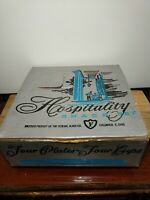 VTG 1960's Glass Hospitality Snack Set Luncheon Plates & Tea Cups 4 each