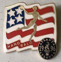 1996 USA Handball Team Atlanta Olympic Summer Games Lapel Hat Pin Pinback