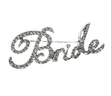 "Bridal Diamante Full of Rhnestones ""Bride"" Brooch for Wedding Pin BR171"