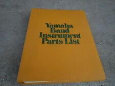 1980 YAMAHA BAND INSTRUMENT PARTS LIST BINDER