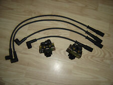 FIAT PUNTO MK1 1.1 1.2 8V 2x IGNITION COIL PACK & SET OF HT PLUG LEADS 1993-99