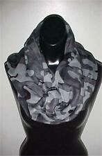 """Gray Camouflage Infinity Scarf...31"""" Long x 23"""" Wide...NEW IN PACK"""