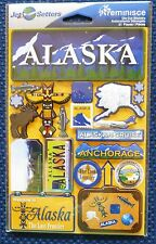 TRAVEL ALASKA  DIE CUT STICKERS BY REMINISCE