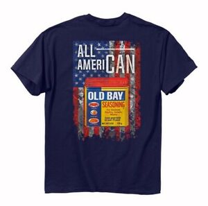 Old Bay All AmeriCAN Short Sleeve T-Shirt - NEW