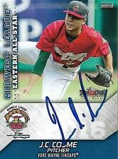 J.C. Cosme 2016 Fort Wayne Tincaps Midwest League All Star Game Signed Card