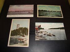 Vintage Nova Scotia Canada Post Card Quantity 4 Lot VG 1905 West Arm Halifax