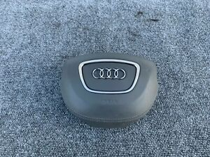 DRIVER LEFT SIDE LEATHER WHEEL AIRBAG ASSEMBLY GRAY OEM 11-17 AUDI A8 A8L S8 D4