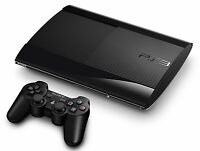 SONY Playstation 3 PS3 Super Slim 500GB Console Black *VGC*+Warranty!!