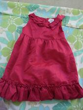 Little Girls Gorgeous Origami Hot Pink Satin Dress Size 2
