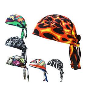 Sports Biker Skull Cap Motorcycle Bandana Head Wrap Du Doo Do Rag Men Womens Hat