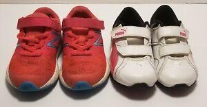 Size 7 Baby Girls Shoes Lot ( New Balance & Puma )