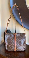 Authentic Louis Vuitton Vintage Monogram Saumur 35 Shoulder/Crossbody Bag