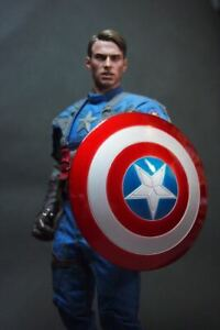 "1/6 Scale Captain America Metallic Shield Model for 12"" Action Figure"
