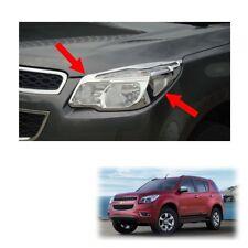 For Chevrolet Holden Trailblazer 2012 13 15 Head Lamp Light Cover Trim Chrome