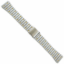 18mm Graham Straight End Stainless Steel Gold Gold Accent Watch Band T787