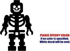 "Lego Skeleton Decal Sticker JDM Funny Vinyl Car Window Bumper Truck Laptop 12"""