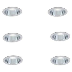 Commercial Electric 6 in. R30 Clear Recessed Reflector Trim 6-Pack