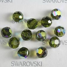 100 pieces Swarovski 5000 faceted 4mm Round Ball Bead Crystal Olivine AB *SALE*