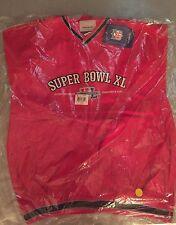 2006 Super Bowl XL Reebok Longsleeve Nylon Pullover Size L Detroit Michigan NFL