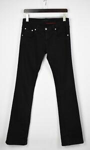 PRADA BOOTCUT Men's W29 L35 Slim Straight Fit Stretchy Black Jeans 29996-GS