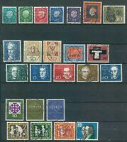 Bund Jahrgang 1959 - Auswahl aus Michel Nr. 302 - 325 , o , gestempelt