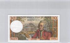 France 10 Francs Voltaire 5.3.1970 P.570 n° 1423943576 F.62 (43)