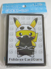 Pokemon 64X Protèges Cartes Sleeve Pikachu Cosplay Team Skull Neuf NEW