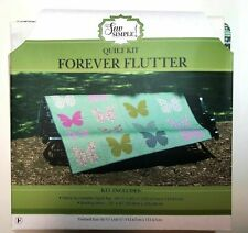 """New listing It's Sew Simple Quilt Kit~""""Forever Flutter""""~Complete Quilt Top with Binding~Nip"""