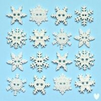 DRESS IT UP Buttons Sew Thru Snowflakes 2892 - Snow - Xmas - Christmas