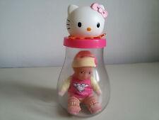 BAMBOLOTTO in bottiglia - HELLO KITTY BOTTLE BABY - SANRIO 2007 Buone Condizioni