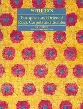 Sotheby's European and Oriental rugs, carpets and textiles LONDRES AVRIL 1992