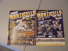 Lot Of 2 2007/2008 New York Monticello Flat Track Racing Program,Motorcycles,