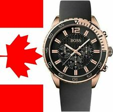 Hugo Boss HB1512931 Men's Rose Gold Black Dial Designer Chronograph Wrist Watch