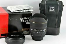 Canon Sigma 12-24mm F/4.5-5.6 EX DG HSM FULL FRAME UK seller boxed