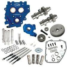 S&S 510G Gear Drive Camshaft Cam Chest Plate Oil Pushrods Kit Harley 99-06 .510