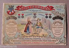 """Publicité """"Maison Cromarias"""" Fruits Confits Confitures Clermond-Ferrand 1901"""