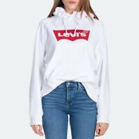 Levi's Women's Batwing Graphic Sport Hoodie In White