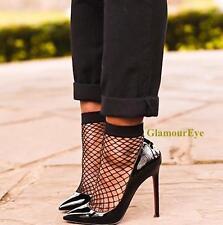 Hot Sexy BLACK Vampy Fishnet Medium Mesh Squares Short Ankle Net Elastic Socks O