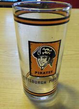 Vintage PITTSBURGH PIRATES DRINKING GLASS OLD LOGO