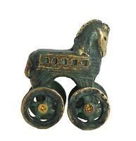 Trojan horse Bronze miniature statue - Ancient Greece mythical battle - Homer