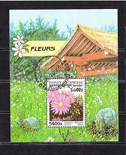 Cambodge état  bloc   flore fleurs    1998   num:  BF 140  oblitéré