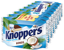 (100g=1,75€) Knoppers Kokos Schokoriegel Sommer Edition - NEUHEIT - 8 Stück