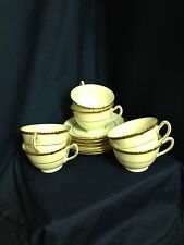 Six Royal Doulton Chantilly Cups & Saucers in Ivory