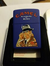 New ListingZippo Camel Pleasure to Burn Detective Blue Matte only 200 made in1999