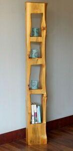 Live Edge White Cedar Book Shelf