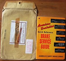 American Brakeblok Quick Reference Brake Service Guide 1955 Book