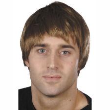 Perücke braun mittellanges Haar, Männerfrisur Herrenperücke Kostümperücke