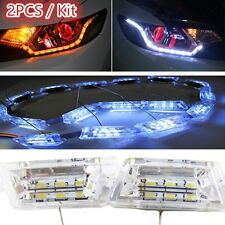2PCS Tear Eye 16LED Strip Lights Sequential Turn Signal For Headlight Retrofit