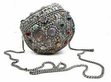 Antique Tibetan Pouch Bag Purse Stones Vtg southeast asia Tibet Nepal Himalaya